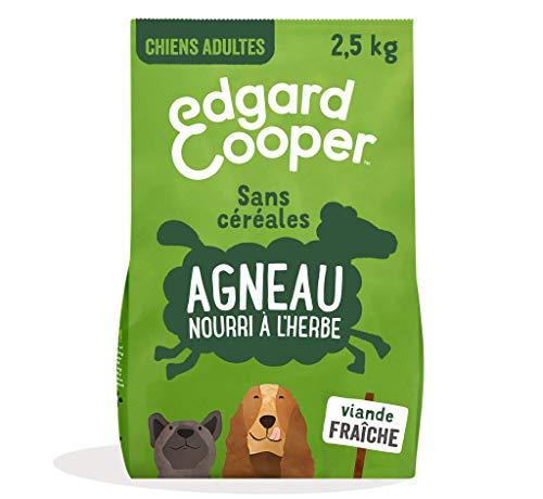 Edgard & Cooper Croquettes Chien Adulte sans Cereales Nourriture Naturelle 2.5kg Agneau Frais Hypoallergénique, Alimentation Saine savoureuse et équilibrée, Protéines de qualité supérieure