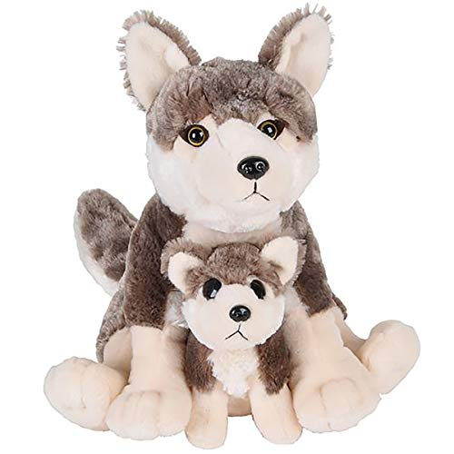 Adventure Planet Birth of Life Wolf with Baby Plush Toy 12' H