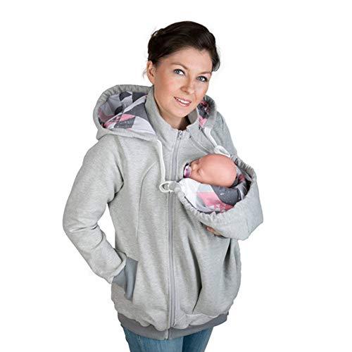HJFGIRL Multifunci/ón Canguro Invierno Mujer Embarazada Maternidad Sudadera con Capucha Fleece Canguro Pullover Abrigo Prendas de Abrigo con Capucha Swatshirt Portabeb/és Envoltura Cubierta