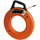 Klein Tools 56059 Fiberglass Fish Tape, 200-Foot Wall Snake is 3/16-Inch Wide Non-Conductive Multi-Groove Fish Tape and Pulls to 500-Pound