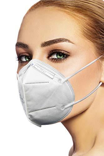 CareAble 20 Stück FFP2 Atemschutzmaske CE(2163) Zertifiziert nach EN149 Staubschutzmaske 4-lagig einzelverpackt (Nasenbügel außen)