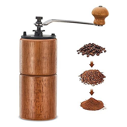 Uioy Molinillo de café Manual de Madera, licuadora de Molino de café...