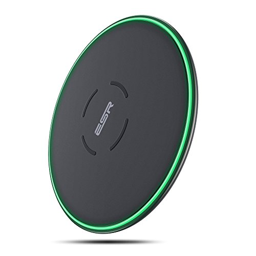 ESR Caricatore Wireless Senza Fili, Carica Rapida 7.5W per iPhone SE 2020/11/11 Pro/11 Pro Max/XS/XS Max/XR/X/8/8 Plus, 10W per Galaxy S20/S20+/S20 Ultra/Note 10/S10/S9/Note 9 (Presa Non Incluso) Nero