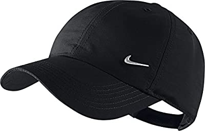 Nike Kinder Cap Metal Swoosh Schirmmütze, Black/Metallic Silver, One Size