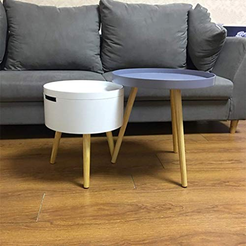 Furniture Decoration Small Coffee Table Multifunctional Storage Seating Corner Table Sofa Round Environmentally Friendly Spray Paint Small Table Pine Legs Nordic Bedside Table Tea Assembled Floor S