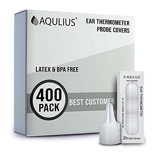 400 Pack of Ear Thermometer Disposable Covers (Universal Fit - Medical Grade) Compatible with All Braun Thermoscan & Phillips Ear Thermometers - Bulk Refill Pack of 400
