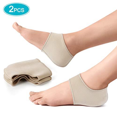 Haofy Fersenschutz Ferse Socken für Fersenschmerzen, Bandage Fersensporn Ferse Ärmel Heel Wrap zu Reduzieren Druck, 1 Paar Fersensocken für Trockene Rissige Ferse, Achilles tendonitis
