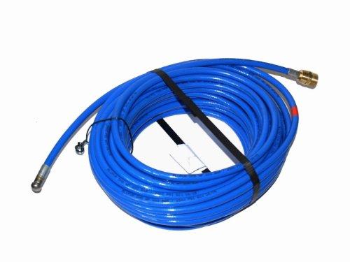 Rohrreinigungsschlauch für Kränzle Hochdruckreiniger 30m M22x1,5 AG blau 3 Strahl hinten 1 Strahl vor