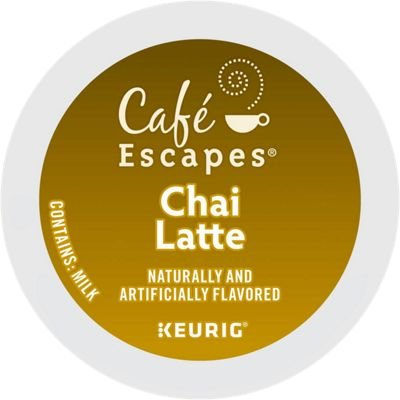 Café Escapes Chai Latte, Single-Serve Keurig K-Cup Pods, 72 Count