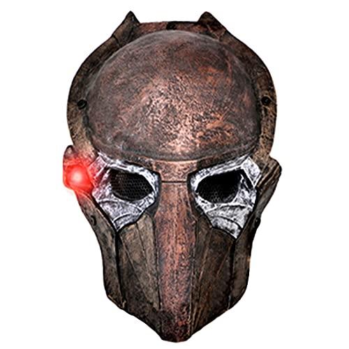 Mulrcks Predator Falconer Adult Mask 1:1 Scale Replica Halloween Costume Mask with LED Lights