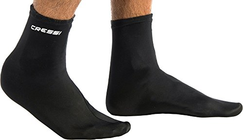 Cressi Fins Calcetin Ultrastretch, Negro/Negro, L/XL