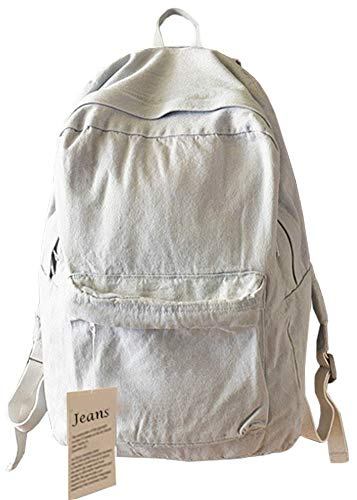 College School Bags Backpacks Girls Denim Cute Bookbags Student Backpack School Laptop Backpack Bag Pack Super Cute for School for Teenage (Gray)
