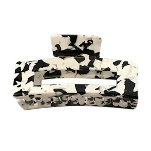 GREEN&RARE Pinza geométrica para el pelo de estilo coreano para mujeres y niñas, diseño vintage de vaca lechera, pasador para coleta, soporte para herramientas de maquillaje