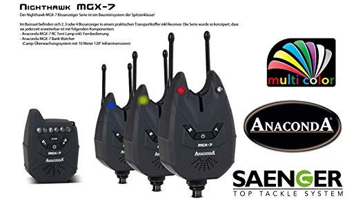 Sänger Top Tackle Systems Anaconda Nighthawk MGX-7 Bißanzeigerset (Multicolor), Ausführung:3er Set (3 + 1)