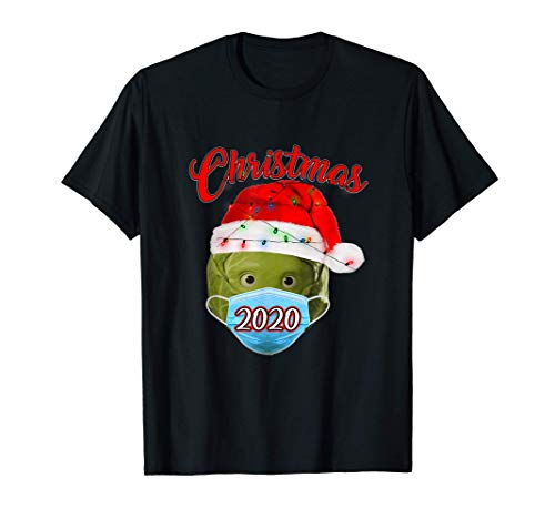 Lockdown 2020 Christmas Quarantine Santa Brussel Sprout Gift Camiseta