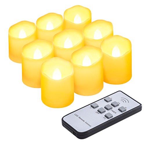 Criacr 9er Led Kerzen mit Fernbedienung, Flammenlose Kerzen mit Timerfunktion, elektrische teelichter, 3 Modi, Batteriebetriebene Kerzen für Weihnachtsdeko, Hochzeit, Geburtstags Party ( Warmweiß )