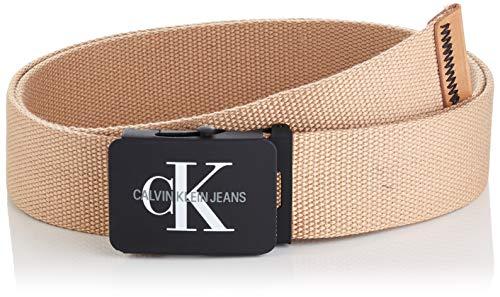 Calvin Klein Jeans J 4cm Adj.monogram Canvas Belt Cintura, Verde (Tannin 229), 9 (Taglia Produttore: 105) Uomo