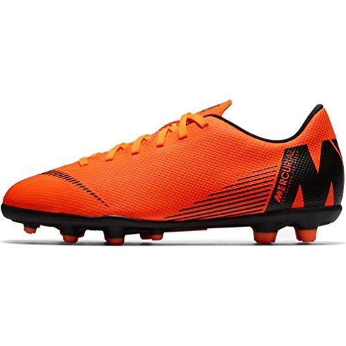 Nike Junior Vapor 12 Club GS MG Football Boots AH7350 Soccer Cleats (UK 4.5 us 5Y EU 37.5, Total Orange Black 810)