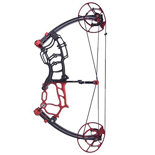 SHARROW Kit Arco Compound 40-70lbs Regolabile ASSE Corto Arco da Caccia per Adulti Archi Composti per Tiro con L'Arco e Pesca con L'Arco (Rosso)