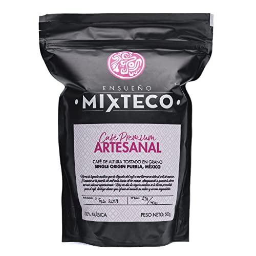 Ensueño Mixteco – Café en Grano Natural Arábica   Tostado con Aroma de Cacao y Almendra   Proceso 100% Artesanal - 500g, Sabor Suave