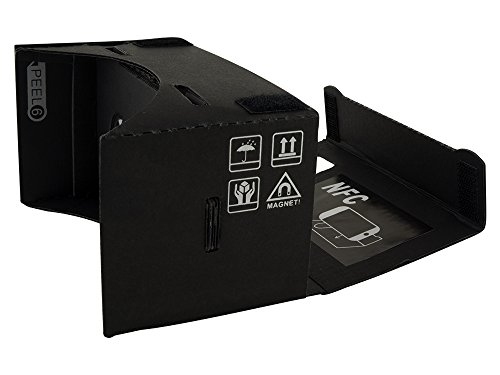 Google Cardboard (Black Version) 45mm Focal Length Virtual Reality Headset - With Free NFC Tag & Headstrap