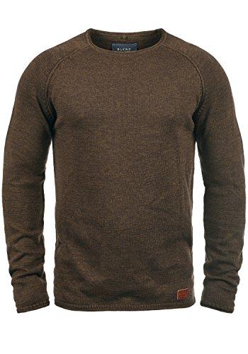 Blend Dan Herren Strickpullover Feinstrick Pullover Mit Rundhals Und Melierung, Größe:XXL, Farbe:Coffee Brown (71507)