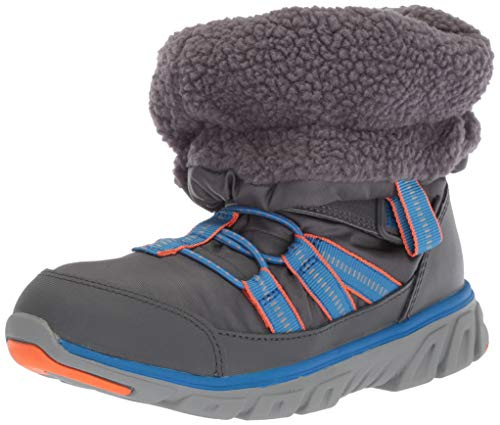 Stride Rite Unisex-Baby Boy's and Girl's Machine Washable Snow Boot, Grey, 5.5 M US Toddler
