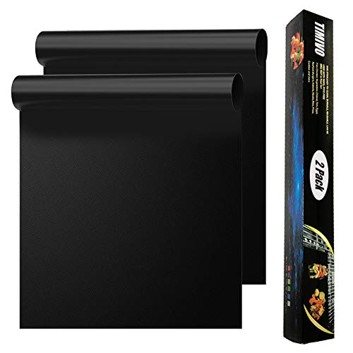 2 Pack Large Oven Liners for Bottom of Gas Oven, Electric Oven Microwave Charcoal or Gas Grills, Reusable Thick Heavy Duty Teflon Non-Stick Oven Mat, Easy to Clean Gas Stove Liners, BPA & PFOA Free