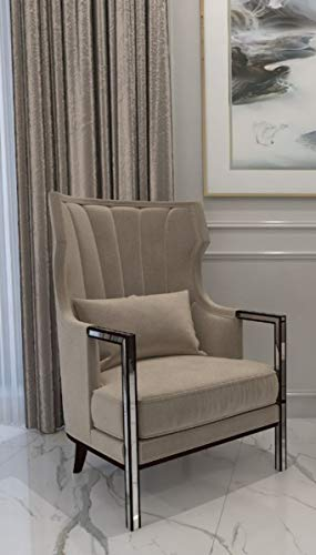 Casa Padrino sillón de Terciopelo Art Deco de Lujo Gris/Negro/Plata 70 x 75 x A. 100 cm - Sillón de salón Noble - Calidad de Lujo - Muebles Art Deco