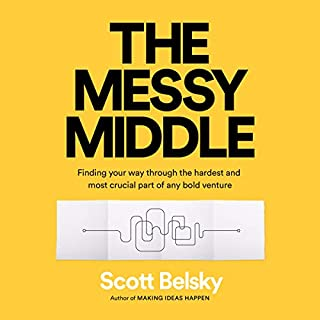 The Messy Middle audiobook cover art