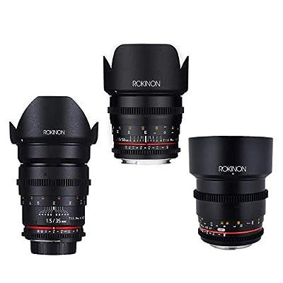 Rokinon Cine DS Portrait Lens Bundle, 35mm T1.5, 50mm T1.5, 85mm T1.5 for Canon by Rokinon