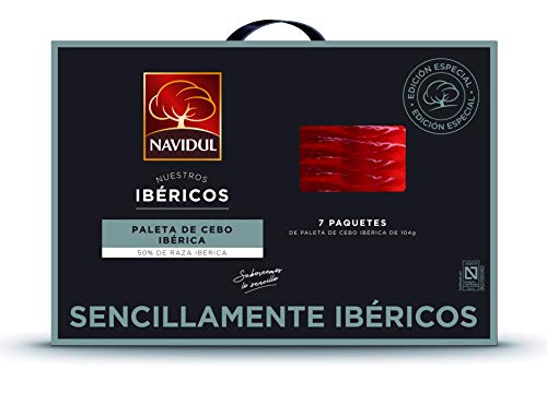 Navidul Maletín de Paleta de Cebo Ibérica (50% raza ibérica) freshpack 7x104g 728 g