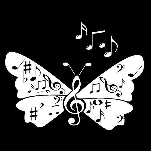 ZHOUHAOJIE Totem Auto Aufkleber Wasserdicht Sonnencreme 15 5 cm * 12 1 cm Vinyl Auto Aufkleber Notizen Notizen Schmetterlingsflügel Lied Aufkleber