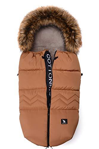 Saco de invierno dormir térmico para carrito silla de bebé universal abrigo polar Cottonmoose Moose North Yukon (north amber)