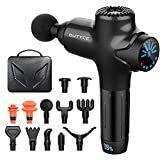 Massage Gun Deep Tissue Percussion Muscle Massager for Pain Relief, Super Quiet Portable Neck Back Body Relaxation Electric Sport Massager(Black)