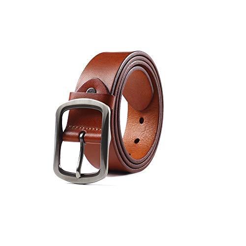 LLZK Herren Business Ledergürtel, verstellbarer Lederbund, Gürtelschnalle, ideal for Jeans, Freizeit, Cowboy & Arbeitskleidung (Farbe : #2, Größe : 43.3in)