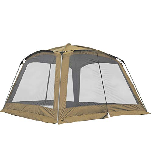 Tents Foldable Camping Tent 8 Person Family Tents,Big,Easy Up, Large Mesh Door,Waterproof, Sunscreen Outdoor Tent (Color : Brown)