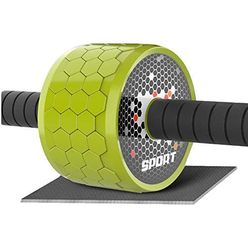 Sportshome Extra Großes Leises Bauchrad/Fitnessgerät/Heim-Fitnessstudio - Grün,Bauchtrainer AB Wheel für Fitness Bauchmuskeltraining Muskelaufbau Bauchroller.
