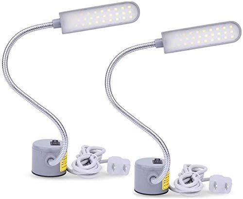 LED Nähmaschine Lampe, 30 LEDs Nähmaschine Licht Schwanenhals Licht Lampe mit Magnetfuß für Nähmaschine Bohrmaschinen Schreibtische Notenständer Handwerk Werkbänke Drehmaschinen Lampen