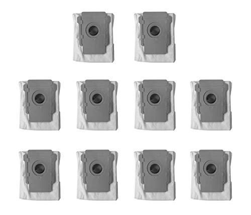 Yonice 10 Stück Ersatz-Staubsaugerbeutel, kompatibel mit Roomba i7, i7+, i7 Plus, E5, E6, S9, S9+, S9 Plus Serie Staubsauger, Clean Base Automatische Schmutzentsorgungsbeutel