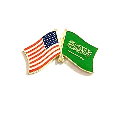 Saudi-Arabien Flagge Patch & Pin Saudi-Arabien/USA Pin