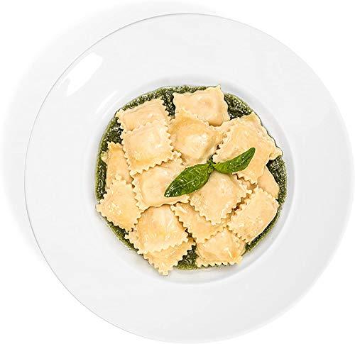 Urban Lifestyle 4 x Pastateller Milano/Salatteller/Porzellanteller/Nudelteller Set Ø 26,5 cm | Tiefe Außenkante 3,6cm