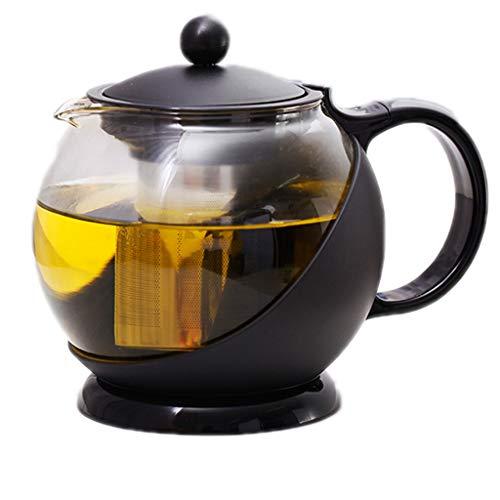Plastikowa skrzynka szklana czajniczek Home Restauracja Hotel Teapot Ze Stali Nierdzewnej Filtr Tea Zestaw Ekspres do kawy (Style : 750ML black)