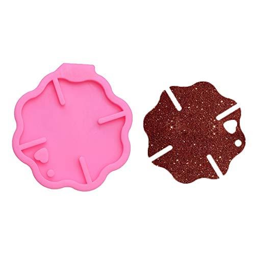 FEIYI Molde de silicona para llavero, diseño de galletas y chocolate, para colgar en el coche, 7,8 cm (color: rosa)