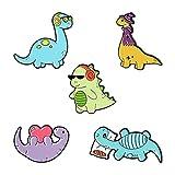 Hellery Mignon Dinosaure Revers Broche Broches Dessin Animé Animal Broches Pin Badges pour Vêtements Vestes Chapeaux Jean Sac Vêtements Décoration 5 Pack