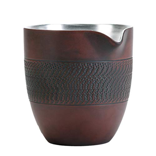 Purple Pottery Kung Fu,colador de té pequeño de plata dorada para juego de té,filtro doméstico,taza justa para accesorios de juego de té,para preparar té de hojas sueltas y especias y condimentos