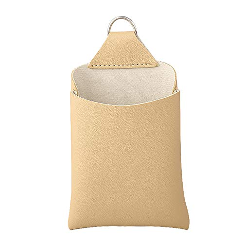 Demarkt Multifunctional Car Air Outlet Pocket Organiser Car Storage Pocket Phone Holder Hanging Organizer Car Air Outlet Storage Bag, beige, 15.8 * 10.3cm