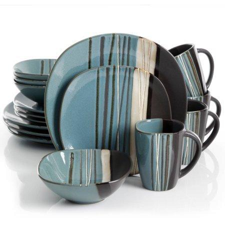 Better Homes and Gardens Bazaar Teal 16-Piece Dinnerware Set