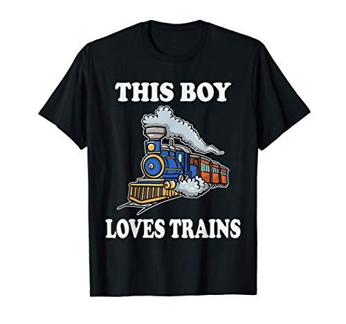Este chico ama los trenes de regalo Vagoneta de amor de los Camiseta