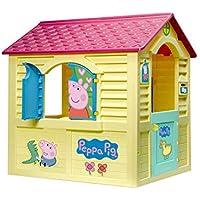Chicos - Peppa Pig Casita Infantil de Exterior, Color Amarilla con tejado Rosa (La Fábrica de Juguetes 89503)